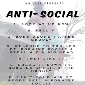 Anti-Social Hosted By DJ Solar Mr.221 front cover