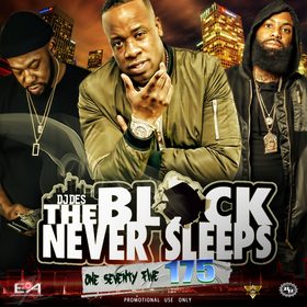 The Block Never Sleeps 175 DJ DES front cover