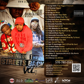 Bringin The Streets Back Vol.7 Drama Da Profit  front cover