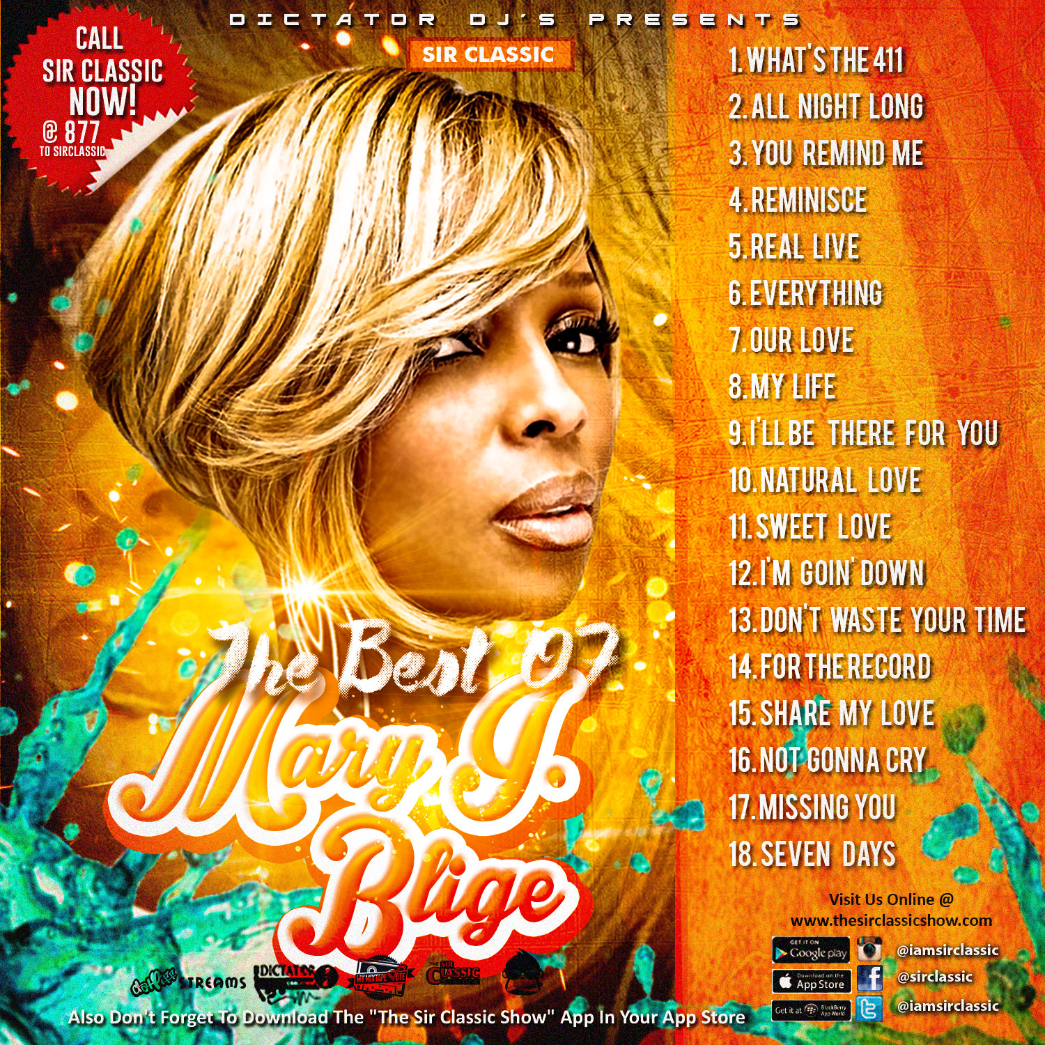Dictator DJs - The Best Of Mary J Blige | Spinrilla