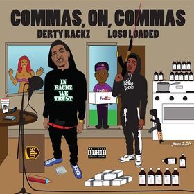 Commas On Commas Derty Rackz front cover