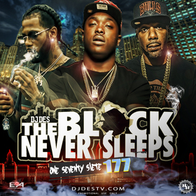 The Block Never Sleeps 177 DJ DES front cover