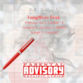 """""""Fallin Soldiers Ep"""" YungMvrs front cover"""