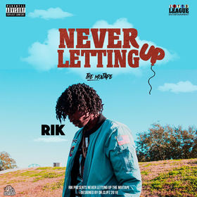 Never letting up Rik front cover