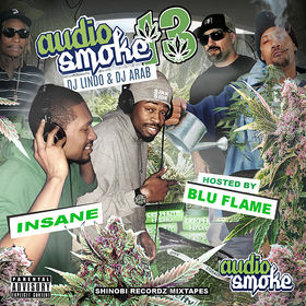 Audio Smoke 13 (Wake n Bake) Mixtape Hosted by Sikk-Side Mixed by DJ Lindo & DJ Arab DJ Lindo front cover