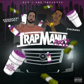 """Trapmania Pt. 2 Dj Black """"The Most Known Unknown"""" front cover"""