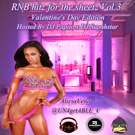 RNB hitz for the sheetz Vol 3 #ValentinesDayEdition DJ Papito front cover