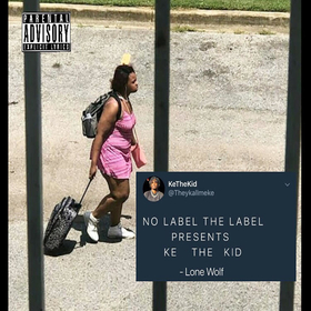 Ke The Kid - Lone Wolf TyyBoomin front cover