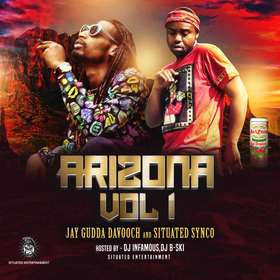 Jay Gudda Davooch and Situated Synco - Arizona Vol.1 DJ Infamous front cover