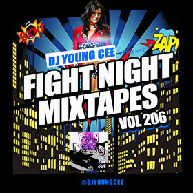 Dj Young Cee Fight Night Mixtapes Vol 206 Dj Young Cee front cover