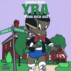 RichAssBran - Yung Rich Ass (No DJ) Dj Hustle Man front cover