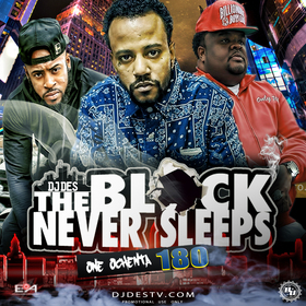 The Block Never Sleeps 180 DJ Des front cover