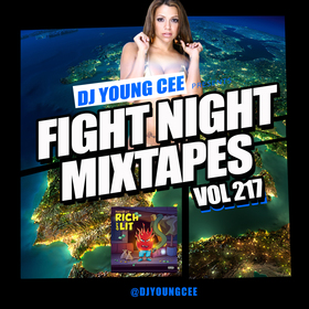 Dj Young Cee Fight Night Mixtapes Vol 217 Dj Young Cee front cover