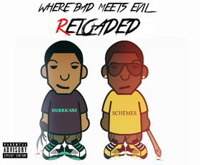 """Where Bad Meets Evil: Reloaded"" by The DJ Hurricane & DJ Schemes The DJ Hurricane front cover"