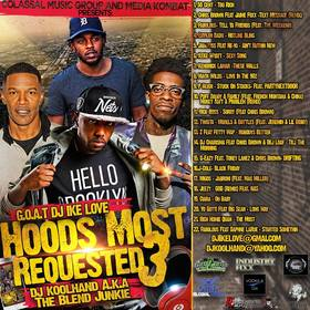 DJ Ike Love DJ Kool Hand - Hoods Most Requested 3 Various Artists front cover