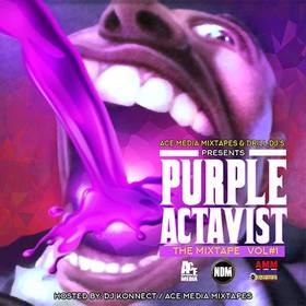 """Purple Actavis"" The Mixtape DJ Konnect  front cover"