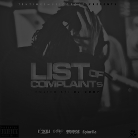 List Of Complaints YungnTen front cover