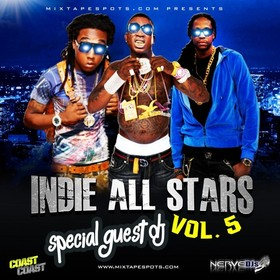 Mixtapespots.com - Indie All Stars Vol 5 (Hosted By DJ Skroog Mkduk) Skroog Mkduk front cover