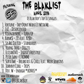The Blaklist (April 2016) DJ Blak Boy front cover