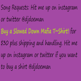 Skizzy Mars Alone Together Screwed Slowed Down Mafia Song Requests Send a text to (832) 323 2903 DJ DoeMan front cover