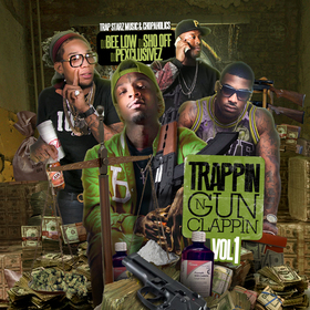 Trappin N Gun Clappin DJ Bee Low  front cover