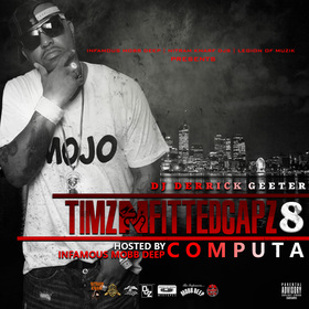 TIMZ N FITTED CAPZ 8 DJ DERRICK GEETER front cover