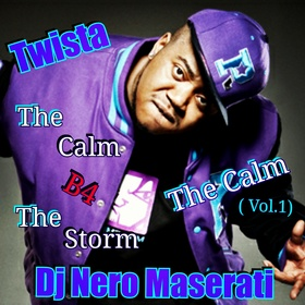 "DJ NERO MASERATI ""THE CALM B4 THE STORM"" (VOL.1 THE CALM) DJ Nero Maserati front cover"