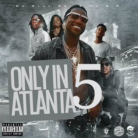 Only In Atlanta 5 DJ S.R. front cover