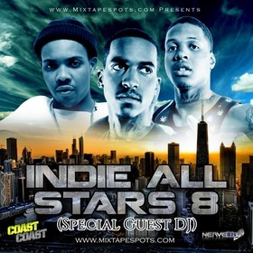 "mixtapespots.com ""Indie All Stars 8"" (Hosted By DJ Skroog Mkduk) Skroog Mkduk front cover"