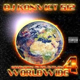 GRINDIN N HUSTLIN WORLDWIDE MIXTAPE PRT 4 Various Artists front cover
