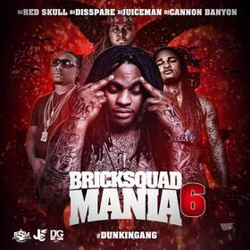 BRICK SQUAD MANIA 6 DJ Red Skull front cover