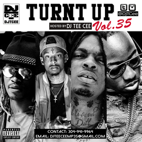 Turnt Up Vol. 35 DJ Tee Cee front cover
