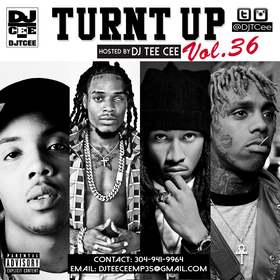 Turnt Up Vol. 36 DJ Tee Cee front cover