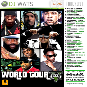 World Tour 5 DJ Wats front cover