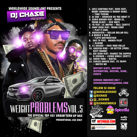 Weight Problems Vol. 5 New HipHop & Rnb DJ Chase front cover