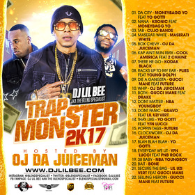 Trap Monster 2k17 Dj Lil Bee front cover