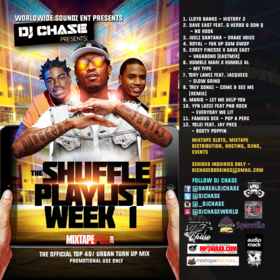 The Shuffle Playlist Week 1 DJ Chase front cover