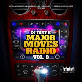 DJ Tony H. Major Moves Radio Vol. 8 DJ Tony H front cover