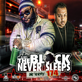 THE BLOCK NEVER SLEEPS 174 DJ DES front cover
