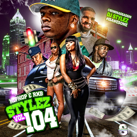 Hiphop & Rnb Stylez Vol 104 DJ Stylez front cover