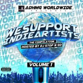 We Support Indie Artists Vol.1 (Compilation) ADHMG WORLDWIDE front cover